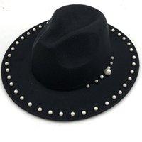 Unisex Düz Ağız Yün Keçe Fedora Şapkalar Kemer Ile Kırmızı Siyah Patchwork Caz Örgün Şapka Panama Cap Trilby Chapeau Erkekler Kadınlar için A4
