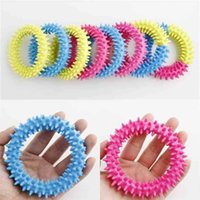 Fidget Speelgoed Spiky Sensory Ring Decompressie Ketting Barbed Armband Stress Angst Relief Squeeze Stretch Finger Game Toy H41Y4K4