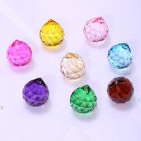 30mm colorido bola de cristal prism suncatcher cristal arco-íris pingentes fabricante de cristais de suspensão prismas para Windows BWB8936