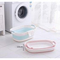 Bathing Tubs & Seats Non-Slip Bathtub Portable Folding Baby Tub Pet Household Plastic Basin Laundry Travel Thickening Wash Storage