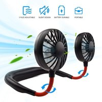 Electric Fans Hands-free Neck Fan Band USB Mini Rechargeable Small Portable Sports Light Desk Hand Air Conditioner Cooler
