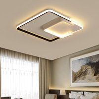 Ceiling Lights AC85-265V Square Aluminum Minimalist Pannel Nordic Dimmable Lamps Surface Mounted Led Plafonniers For Bedroom Fixture