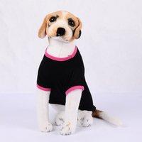 dog apparel Summer pet clothes thin cartoon black dog vest round neck small and medium sized
