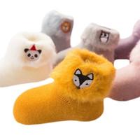 Calzini LawAdka per Baby 3D ricamo cartone animato neonato calzini inverno caldo spesso spesso infantile ragazze ragazzi calzini per bambini Y201009