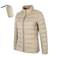 Matte Woman Ultra Light Duck Down Jacket Stand Collar Warm Outwear Soft Coats 210913