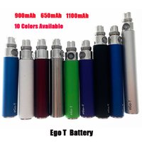Top Quality Ego T 650mAh 900mAh 1100mAh Battery With 10 Colors Available Fits All 510 Thread CE4 CE5 CE5 Plus Iclear Kanger Protank Atomizer
