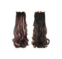 """091 Synthetic Ponytail Long Straight Hair 16"""" 22"""" Clip Ponytail Hair Extension Blonde Brown Ombre Hair Tail With Drawstring"""
