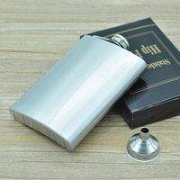 Boom Moda 8 oz Paslanmaz Çelik Cep Hip Flask Retro Whishkey Flask Likör Vida Kapağı Ücretsiz Bonus Huni ve Siyah Hediye Kutusu 459 R2 içerir