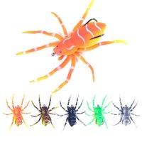 Hengjia 20 teile / los Spinne Topwater Bit Weiche Kunststoff Fischereiköder Simulation Weiche Köder Spinne 8 cm / 7g Meer Künstliche Köder für alle Angeln
