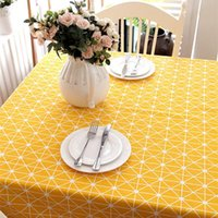 Table Cloth 2021 Designed Modern Simple Geometry Printed Blending Dust Proof Tablecloth