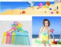 5Color Blank all'ingrosso Bambini per bambini Shell Shell Beach Seashell Bag Kids Beach Giocattoli da spiaggia Ricevi Sacchetto Mesh Sandboxs Away CCA6741