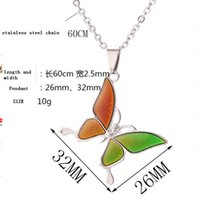 mood necklace chang color Sun moon and stars butterfly necklace personalized pendant with stainless steel chain necklace