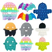 Halloween Fidget Sensory Burbujas Pulse Simple Dimply Bubble Toys Toys DecomPresion Ghost Bat Stese Relieve Interactive Party Game 2021 DHL