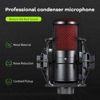 Micrófonos 3.5mm Plug Professional juego Grabación de la grabación de la difusión del canto del condensador del chat para PC Karaoke Studio