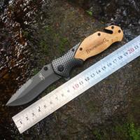Browning x50 Couteau de pliage tactique Titanium Flipper 5CR15MOV Poignée de bois Flipper Camping Camping Chasse Survie Poche de Noël Collection de Noël HW118