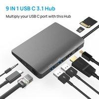 Hubs USB HUB Type C -Compatible Adapter 4K 3.1 To Multi 3.0 RJ45 Audio Dock For Mac Laptop USB-C Splitter Docking Station