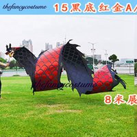 12m Dragon mascot Costume Outdoor golden plated handmade Sports Square Ribbon Halloween Party Carnival Funny Toys Festival New Year Prop