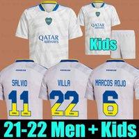 Camiseta Boca Juniors Soccer Jerseys 2021 2022 Cristian Pavon Tevez Carlitos Maradona Away Football Jersey De Rossi Almendra Salvio Abila Cabj Men + Kids Kit Chiefs