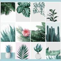 Duvar Sanatı DIY Boyama Numaralı Bitki Yaprak Manzara Boya Tuval Resim Yağlıboya Resim Numaraları El Boyalı Modern Glmgu Fecfk