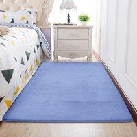 Carpets Blue Memory Foam Rug For Living Room Modern Kitchen Absorbent Antiskid Floor Mat Bedroom Non-slip Carpet Home Entrance