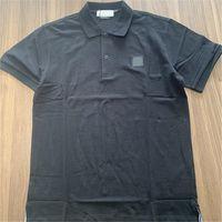 Tempo de lazer de verão confortável homens pólos simples bordados logotipo sólido camisa polo moda marca de manga curta