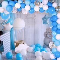 113pcs Baby One Party Party Palloncini Ghirlanda 1st Birthday Party Decorations Bambini Backdrop da sposa Decorazione Babyshower Balon arco Y0228