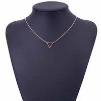 IPARAM 2019 простые цепи ожерелья треугольник ожерелье нежное минимальное ожерелье треугольника для женщин шарм ожерелье