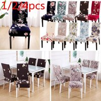 Chair Covers 1 2 4pcs Modern Removable Cover Anti-dirty Seat Printing Kitchen Slipcover For Wedding Restaurant Housse De Chaise