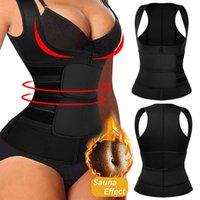 Women's Shapers Womens Waist Trainer Corset Vest Sauna Sweat Suit Compression Shirt Slimming Body Shaper Workout Tank Tops Weight Loss Shape