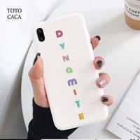 الوردي 2020 ألبوم جديد الديناميت لينة حالة الهاتف ل فون x xr xs ماكس 6 ثانية 6 7 8 زائد se kpop الكورية لينة الغطاء الخلفي ل iPhone