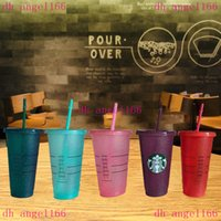50 Plastik 24 oz Getränke Saft Tasse Rosa Point Cup Custom Starbucks Kunststoff Transparente Becher