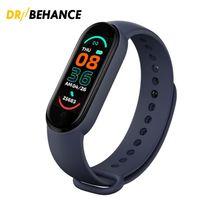 M6 Smart Pulseira Smarts Smarts Watch Fitness Rastreador Real Rapar Heart Pressure Monitor de pressão de cor IP67 impermeável para o esporte