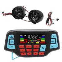 Motorrad Audio Freisprecheinrichtung Bluetooth Stereo Lautsprecher FM Radio Sound System Zubehör Wasserdichte Motor MP3 Music Player