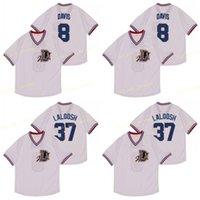 Bull Durham Nuke 'Laloosh 37 Crash Davis 8 Durham Baseball Jersey Film Version Fashion Retour Retour Jerseys Shirt Shirt cousu