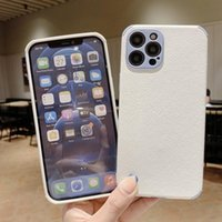Lambskin Leather Mobile Phone Cases For iPhone 13 12 Pro 11 XS MAX XR 7 8S Plus Soft Silicone Shockproof Back Cover Water Resistant Dirt-resistant Case