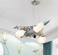 الشمال الكرتون الطائرات الزجاج المعادن قلادة الأنوار للأطفال نوم غرفة الطعام تعليق الصمام الإنارة الرئيسية دروبشيبينغ