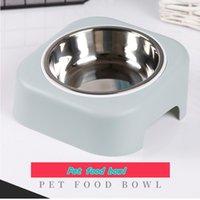 Yeni Köpek Paslanmaz Çelik Plastik Köpek Pirinç Kase Pet Tek Kase Kedi Besleme Kase Pet Gıda Gereçleri