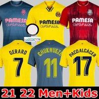 2021 Villarreal cf S.Cazorla Soccer Jerseys Finals Champions 21 22 Casa Away Take Geraro Chukwueze Camicia Parejo Paco Alcácer Moi Gomez Uniform