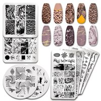 Pict You Nail Stamping Piatti Marble Texture Flower Snake Tema di Natale Immagine 12 * 6cm Template Stampo Nail Art Stencil