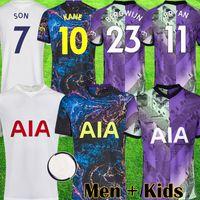 21 22 colorful soccer jerseys white kit 2021 2022 purple football shirts men kits kids equipment