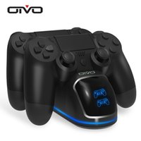 OIVO FAST PS4 تحكم شحن محطة قفص الاتهام الشاحن المزدوج حامل مع شاشة عرض الحالة لمحطة اللعب 4 / PS4 Slim / PS4 Pro