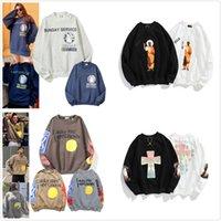 Kanye Hommes Sweaters Haute Qualité Sweatshirt Sweatshirt Street Femmes Tricoter Pull Sweats à capuche automne Hiver Warm Outwear 0102