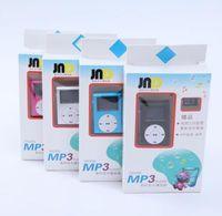 Mini Gola Digital LCD Tela Metal Clip MP3 Player Micro TF / SD Slot Slot Fone De Ouvido USB Cabo Portátil Música Perfict Presente