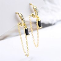Hoop Stainless Steel Drop Earrings For Women Tassels Chain Bohemian Style Fashion Xmas Jewelry Wedding Bride Party 559