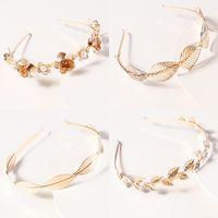 Hair Accessories Fashion Retro Bands For Women Wedding Metal Gold Leaf Butterfly Headbands Girls Bride