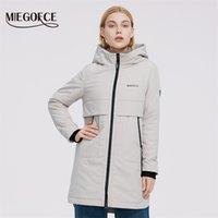Miegofce Женщины Куртка Стеганые Пальто Дамы Ветрозащитные Куртки для Большой Парки Длина Колена Водонепроницаемый Матовый Маттер 210910