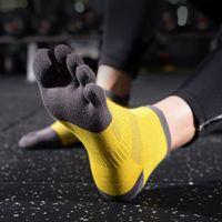 1 Pair Fall sport socks Men Cotton Mesh Meias Sports Running Five Finger Toe Socks Moderate cycling running socks meias ciclismo