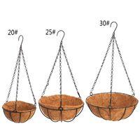 Hanging Coconut Vegetable Pot Basket Liners Planter Decor Iron Art Garden Flower & Planters Pots
