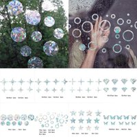 Window Stickers Wall Sticker Film Stars PVC Diamonds No Glue Electrostatic Glass Prism Rainbow Removable Colorful
