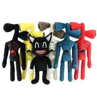37cm anime siren tête peluche jouet dessin animé dessin animé sirène poupée poupée d'horreur chat noir chat peluches jouets pour enfants cadeaux de Noël